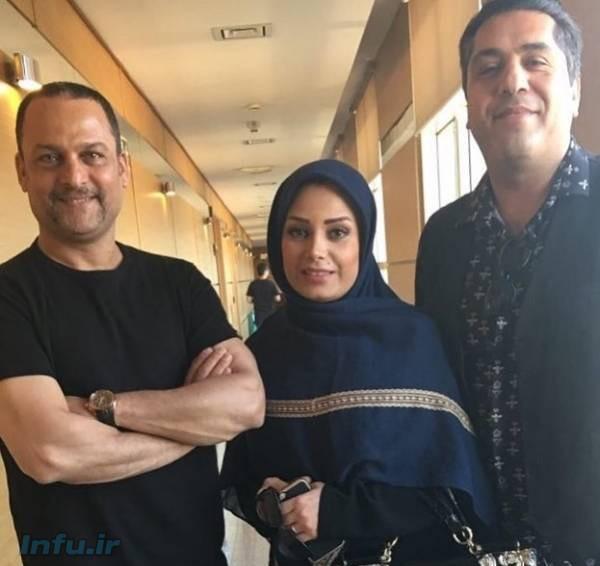 حسین یاریدر کنار صباراد و همسرش