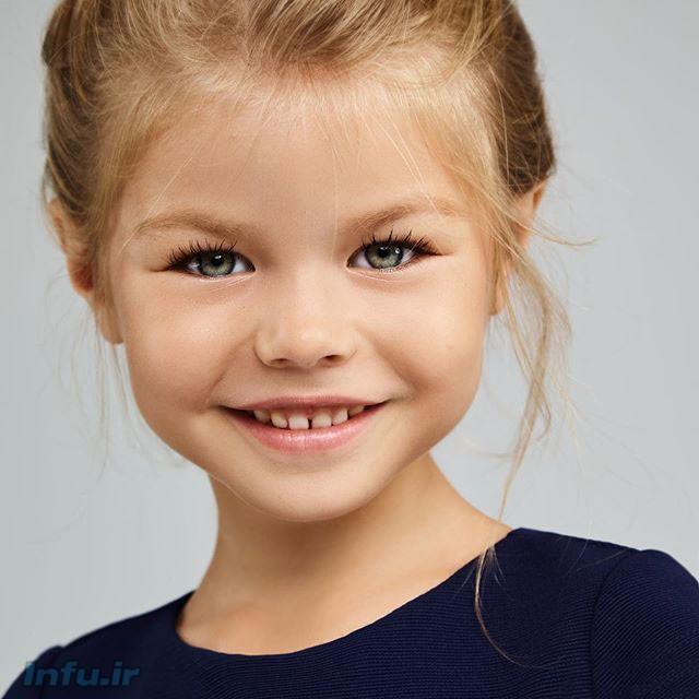 آلینا یاکوپووا زیباترین دختر بچه جهان در سال 2020